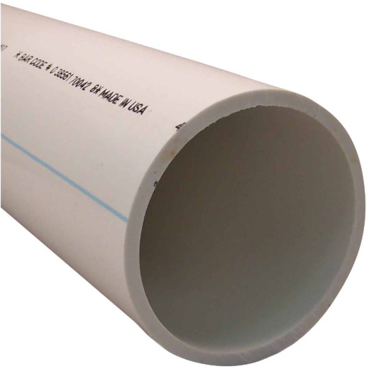 Charlotte Pipe 4 In. X 5 Ft. PVC-DWV Cellular Core Schedule 40 Pipe