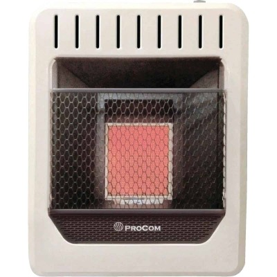 ProCom 10,000 BTU Natural Gas Vent-Free Infrared Plaque Gas Wall Heater