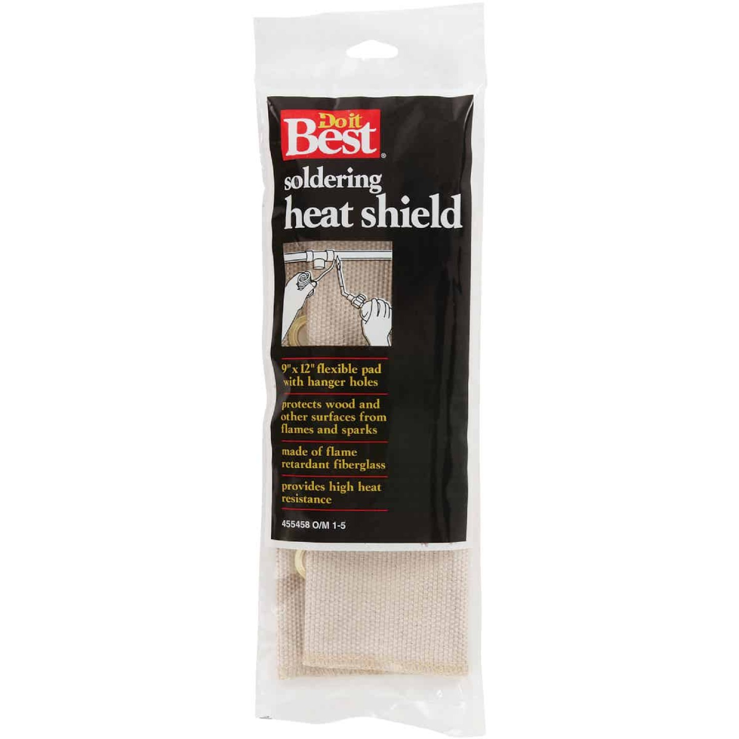 Do it Best 12 In. x 9 In. Fiberglass Soldering Heat Shield Image 1