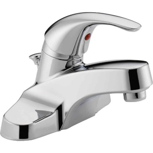 Peerless Choice Chrome 1-Handle Lever 4 In. Centerset Bathroom Faucet with Pop-Up