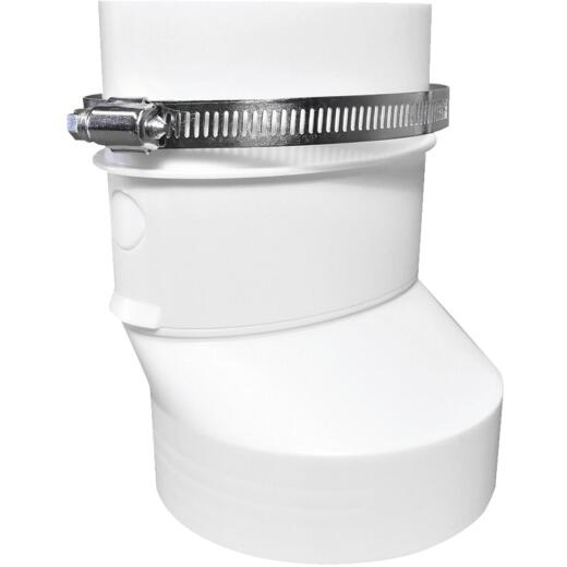 Dundas Jafine Round to Oval Plastic Dryer Duct Connector