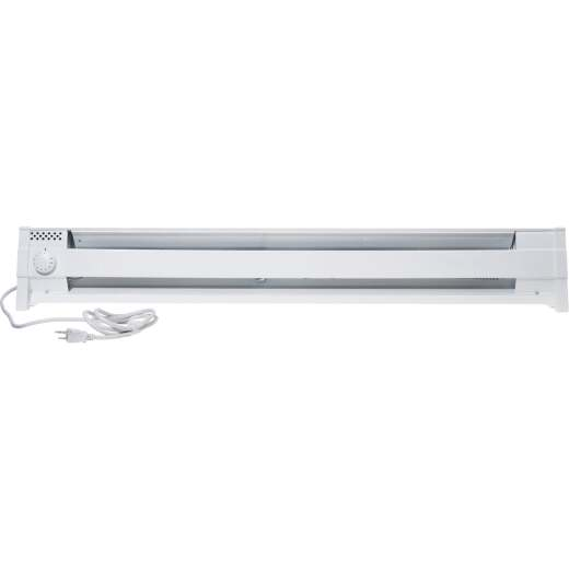 Cadet 49 In. 1500-Watt 120-Volt Portable Electric Baseboard Heater, White