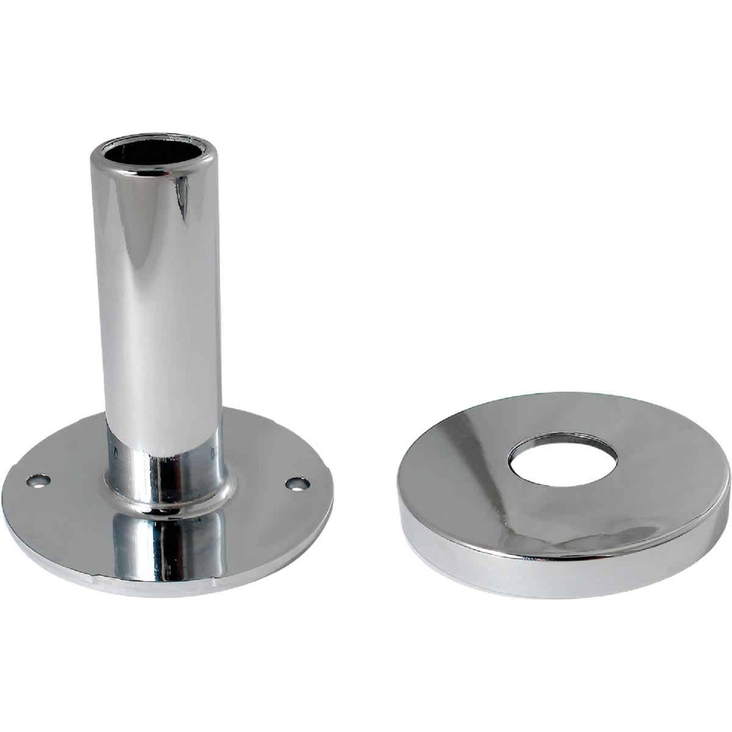 Keeney 1/2 In. Chrome-Plated Pipe Cover Tube and Flange Image 1