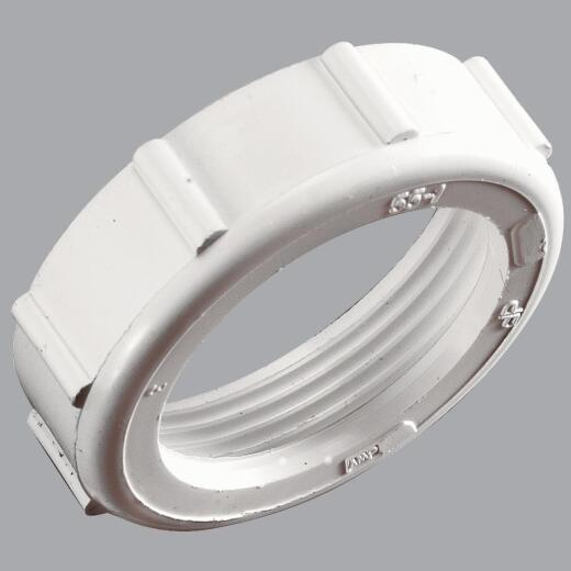 Do it 1-1/2 In. x 1-1/2 In. White Plastic Slip Joint Nut and Washer