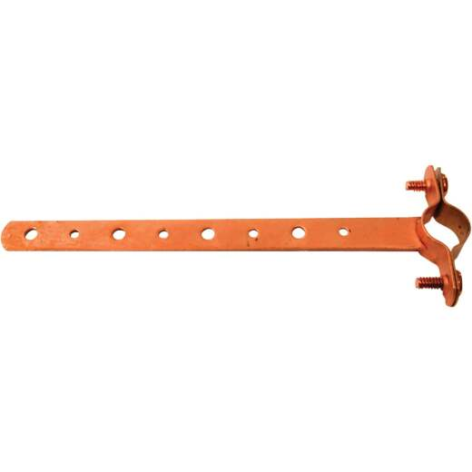 Oatey 1/2 In. x 12 In. Copper-Coated Pipe Hanger Strap