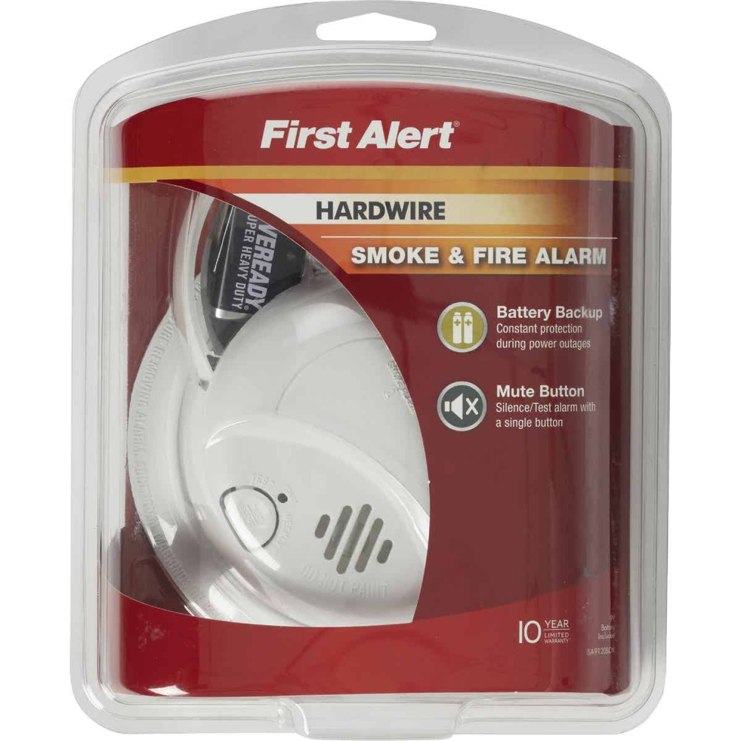 First Alert Hardwired 120V Ionization Smoke Alarm Image 2