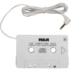 RCA 2 Ft. Cord 3.5mm Plug White Auto Cassette Adapter Image 3