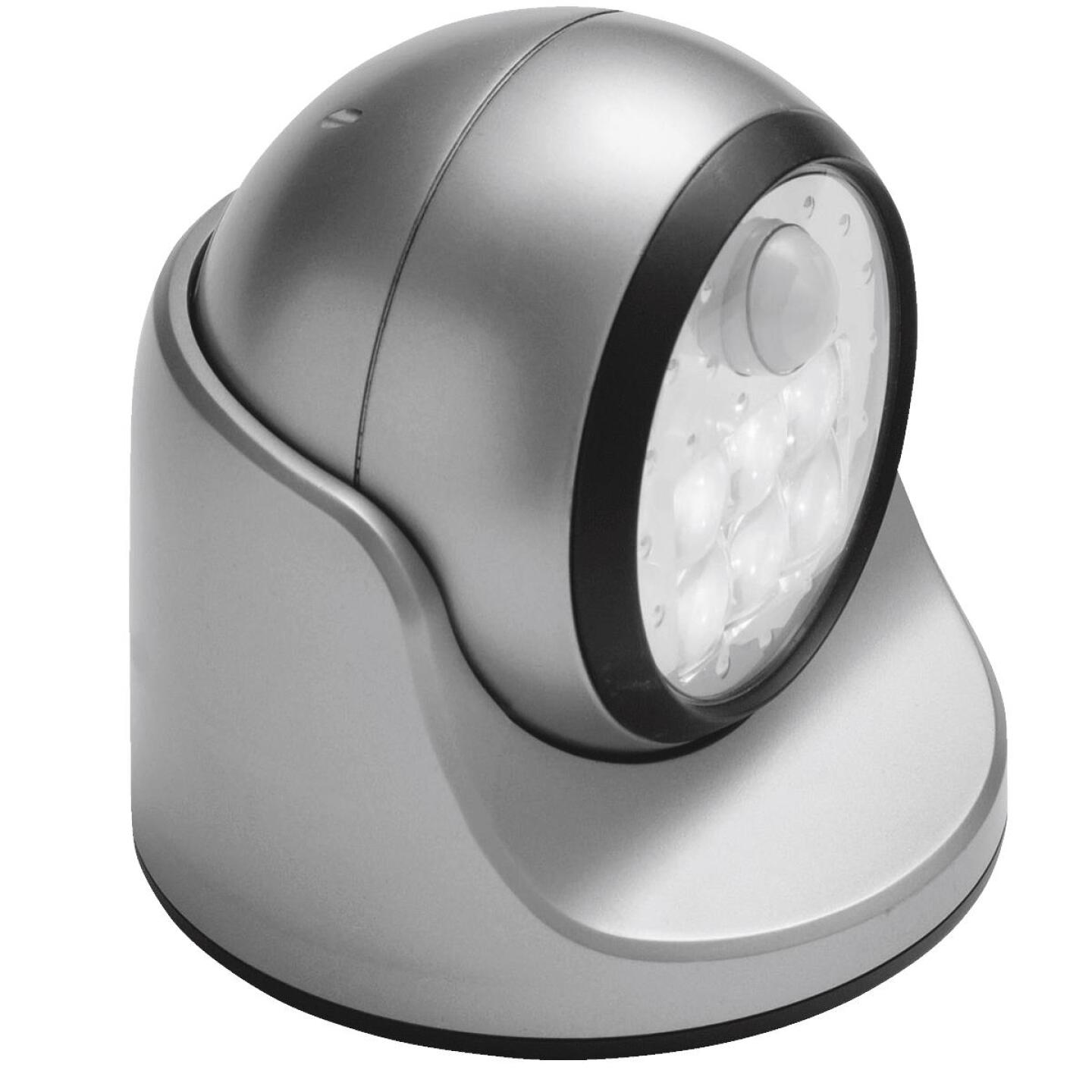 Light It Silver 100 Lm. LED Battery Operated Security Light Fixture Image 1