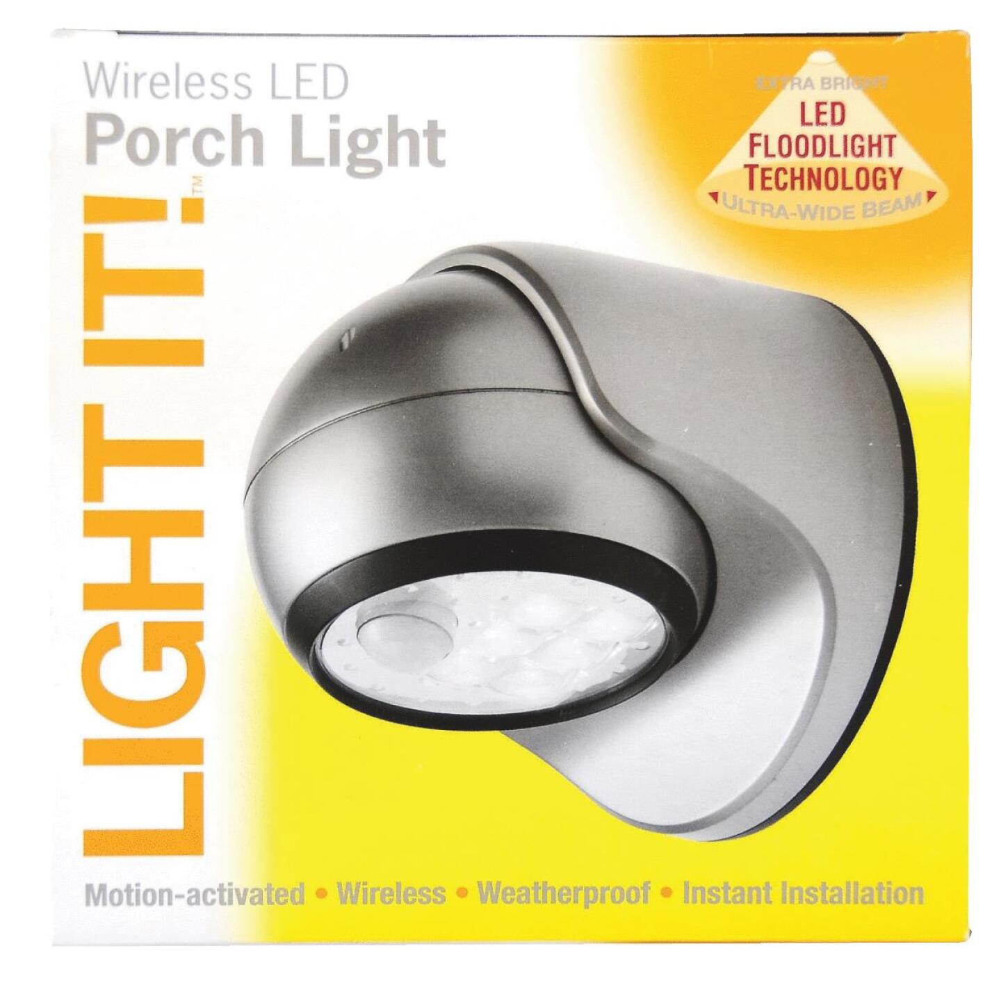 Light It Silver 100 Lm. LED Battery Operated Security Light Fixture Image 2