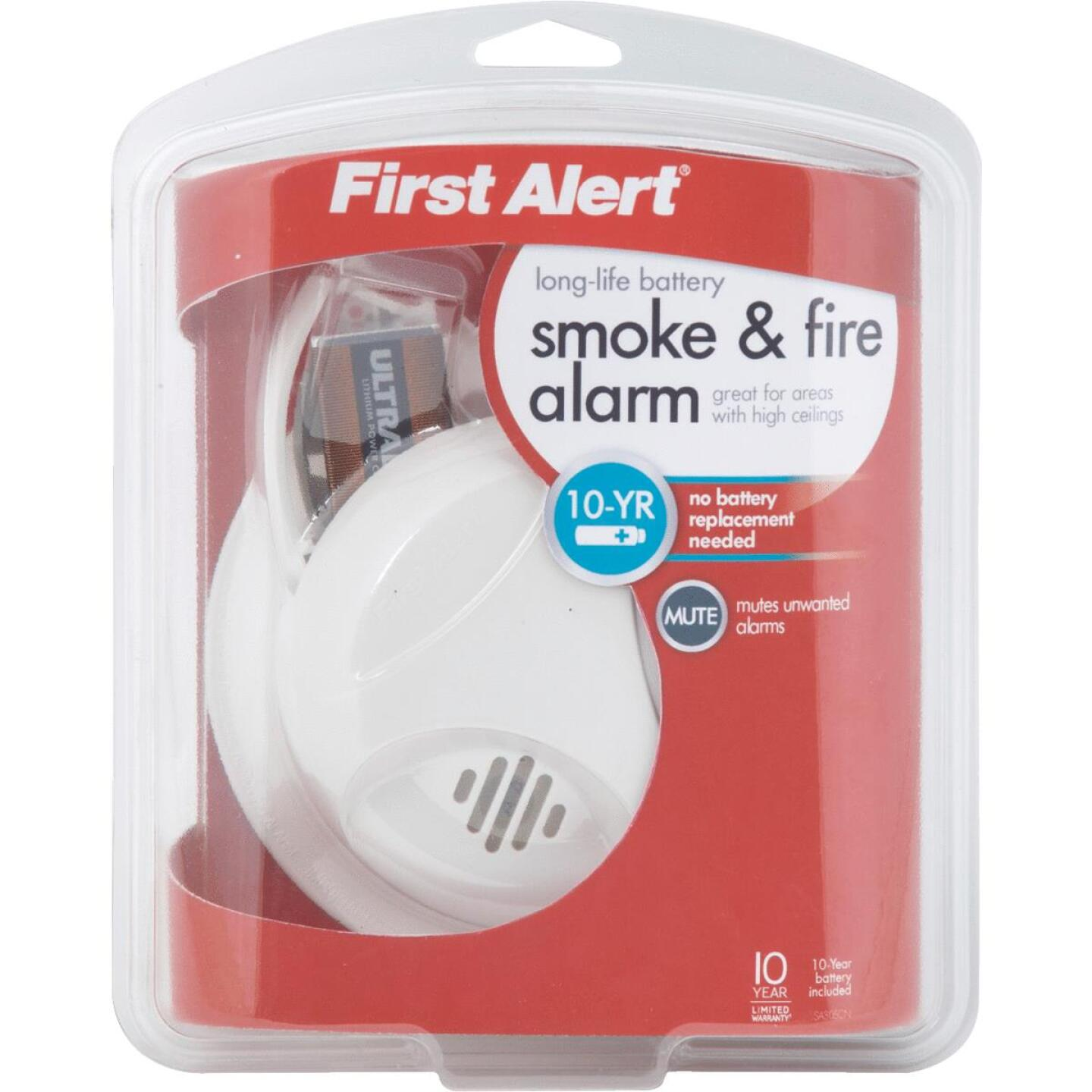 First Alert Long Life Battery Operated 9V Ionization Smoke Alarm Image 3