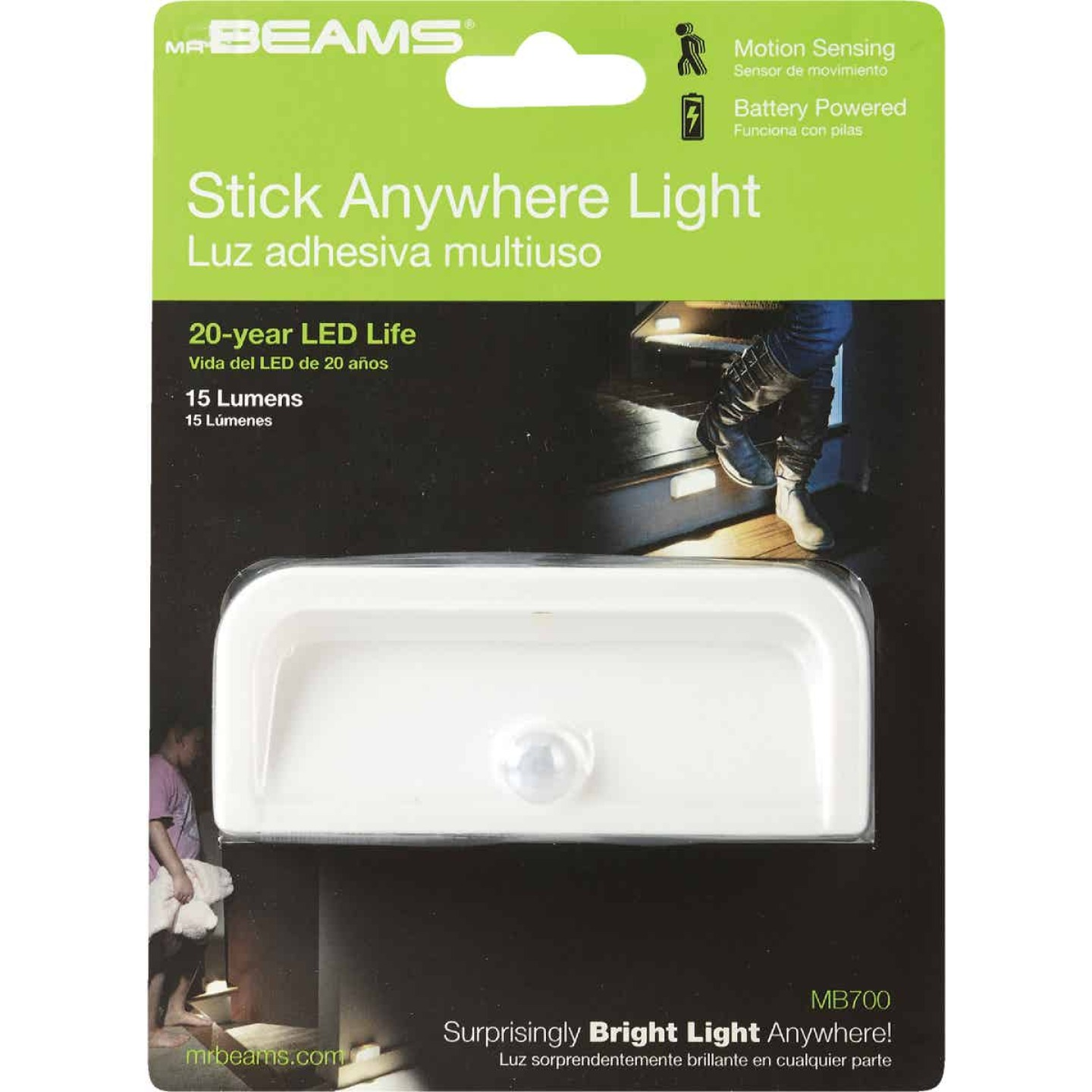 Mr. Beams White LED Battery Operated Light Image 2