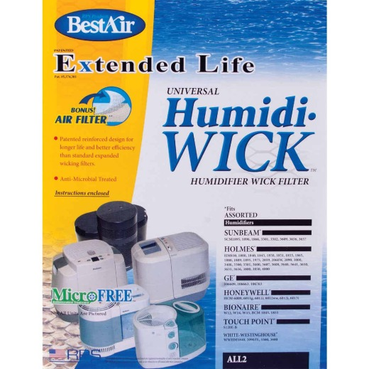 BestAir Extended Life Humidi-Wick ALL2 Humidifier Wick Filter with Air Filter