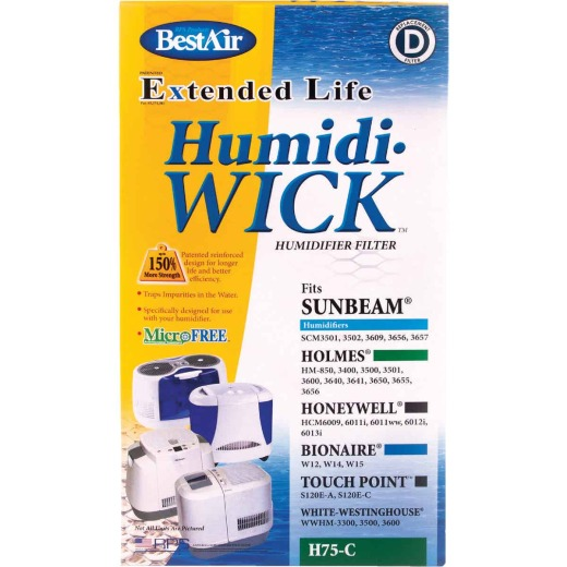 BestAir Extended Life Humidi-Wick H75 Humidifier Wick Filter