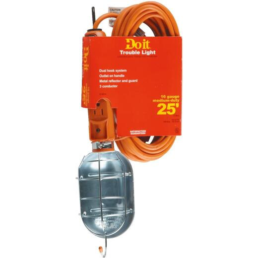 Do it Premium 75W Incandescent Trouble Light with 25 Ft. Power Cord