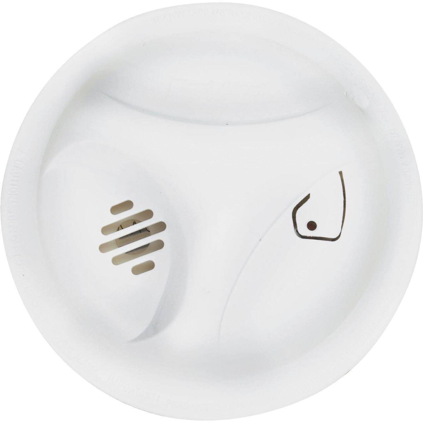 First Alert Battery Operated 9V Ionization Smoke Alarm with Hush Image 2