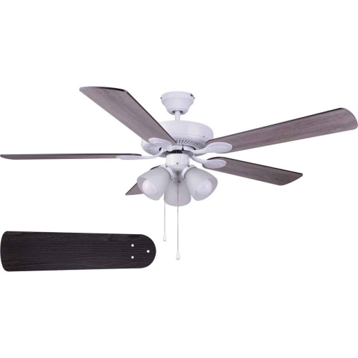 Home Impressions Villa 52 In. White Ceiling Fan with Light Kit