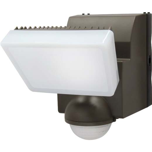 IQ America Bronze 500 Lm. LED Motion Sensing Battery Operated 1-Head Security Light Fixture