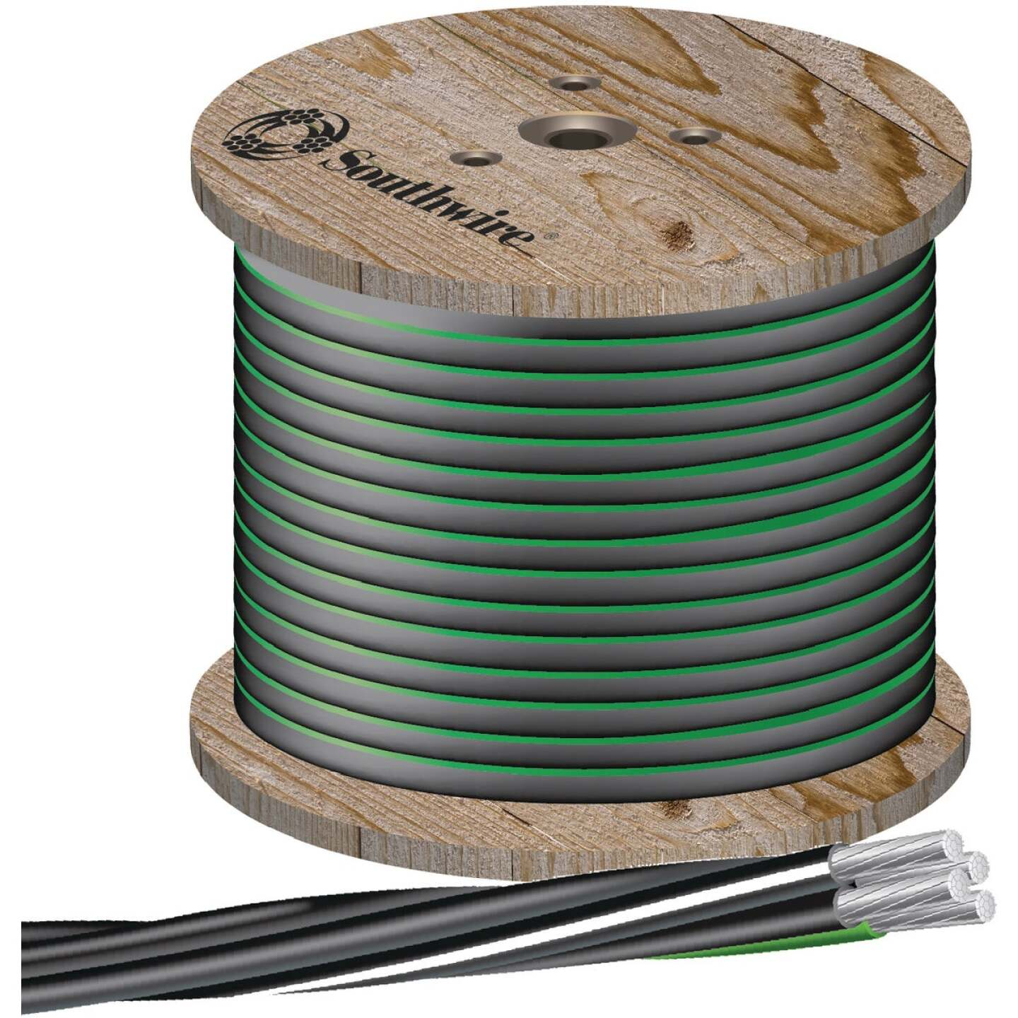 Southwire 500 Ft. 4/0-4/0-2/0-4 4-Conductor Underground Service Entrance Cable Image 1