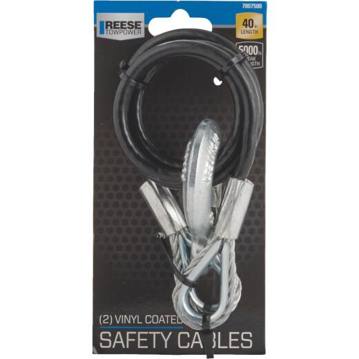 Reese Towpower 40 In. x 500 Lb. Safety Tow Cable (2-Pack)