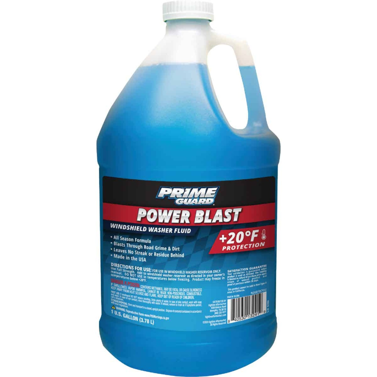 Camco Xtreme Blue 1 Gal. +20 Deg F Temperature Rating All Season Blend Windshield Washer Fluid Image 1