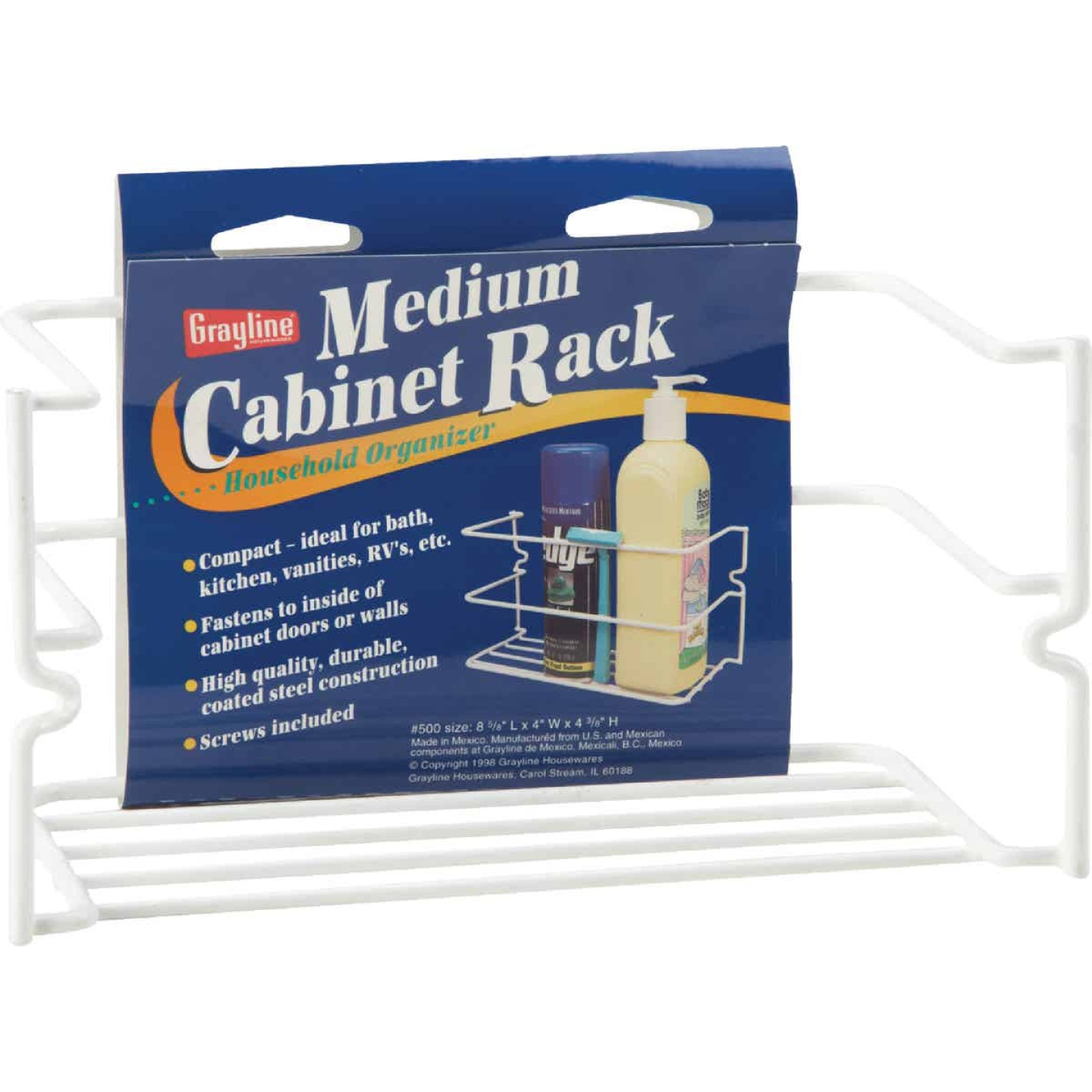 Grayline White Handy Caddy Cabinet Rack Image 2
