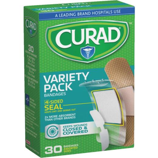 Curad Flex-Fabric Variety Pack Bandage (30-Count)650148