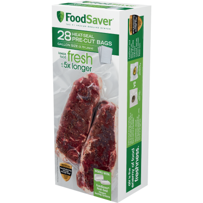 Food Saver 1 Gallon Vacuum Sealer Bag, 28 Pack