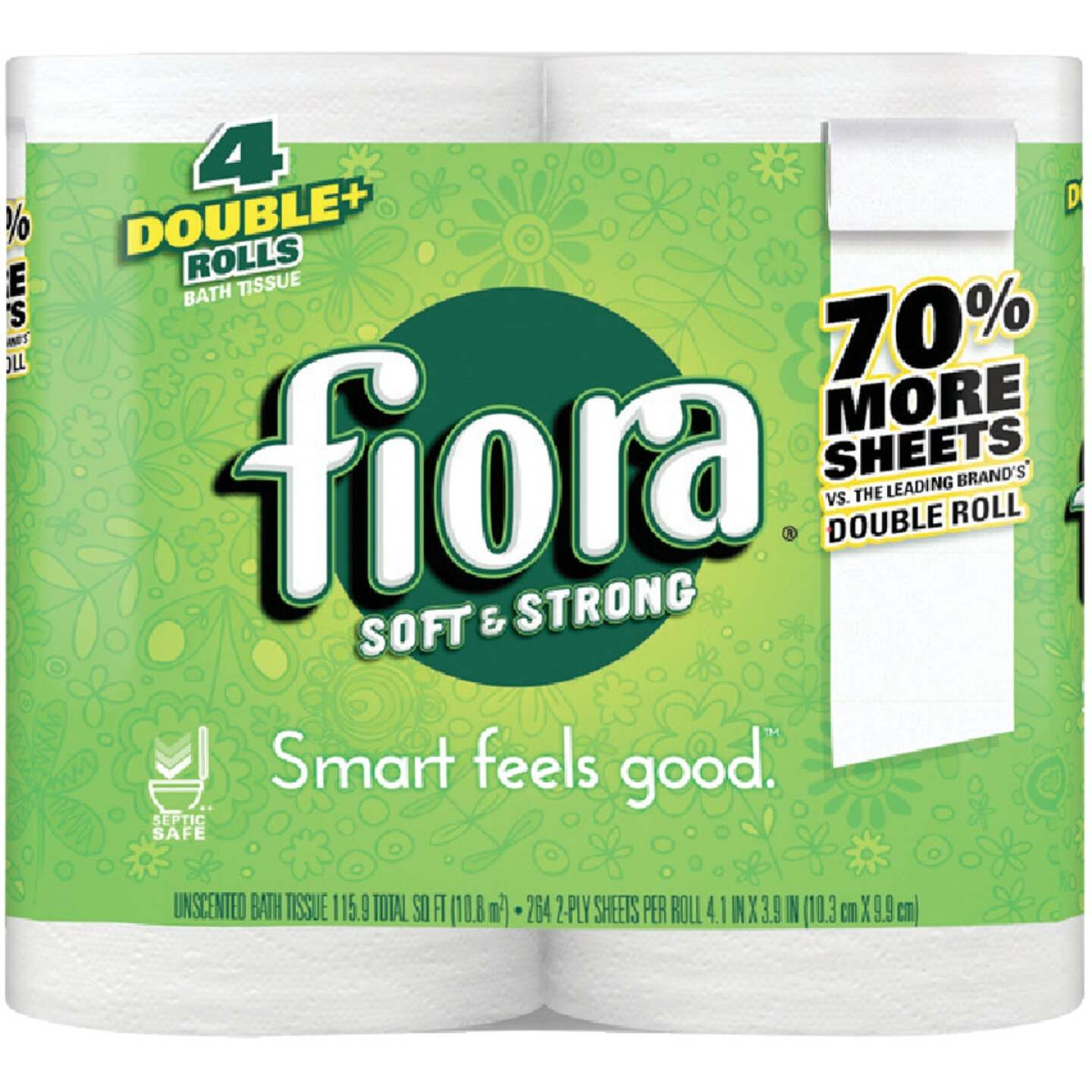 Fiora Soft & Strong Toilet Paper (4 Double Rolls) Image 1