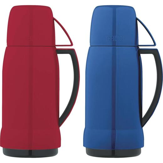 Thermos Arc 17 Oz. Red or Blue Plastic Insulated Vacuum Bottle