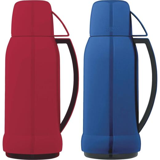 Thermos Arc 35 Oz. Red or Blue Plastic Insulated Vacuum Bottle