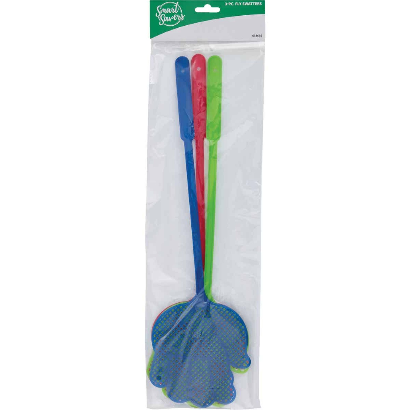 Smart Savers 5 In. x 4.7 In. Plastic Fly Swatter (3-Pack) Image 2