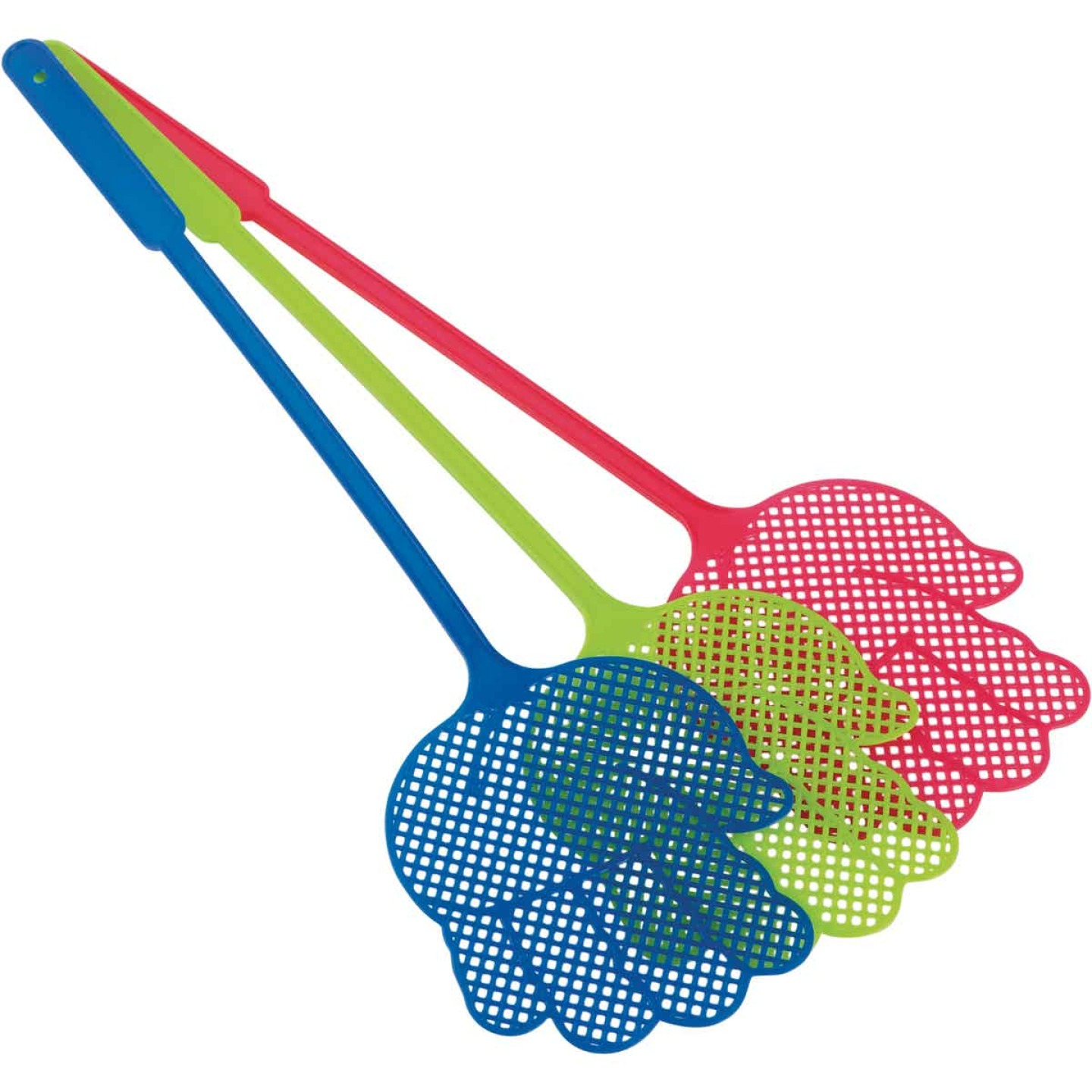Smart Savers 5 In. x 4.7 In. Plastic Fly Swatter (3-Pack) Image 3