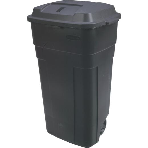 Rubbermaid 34 Gal. Black Wheeled Trash Can with Lid