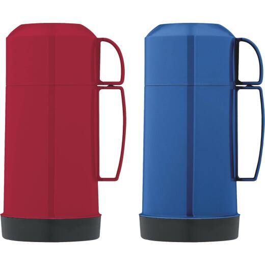 Thermos 16 Oz. Blue or Red Plastic Thermal Food Jar