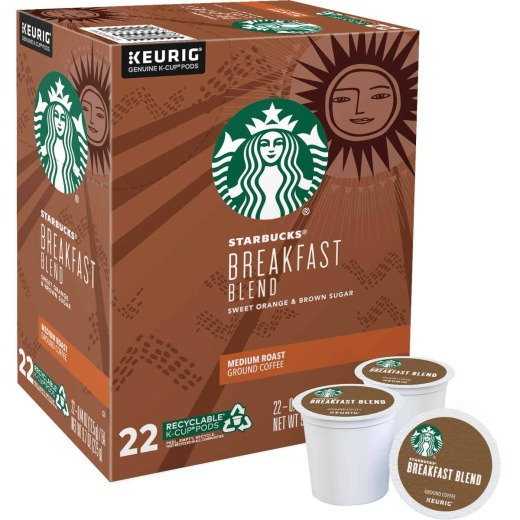 Keurig Starbucks Breakfast Blend Coffee K-Cup (22-Pack)
