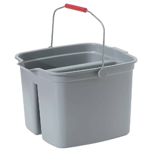 Rubbermaid Commercial 17 Qt. Gray Divided Bucket