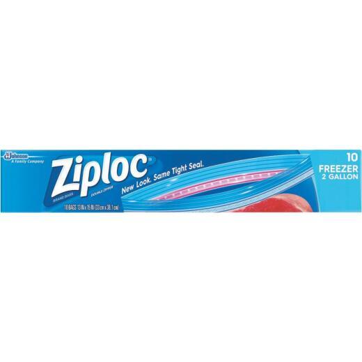 Ziploc 2 Gal. Double Zipper Freezer Bag (10 Count)