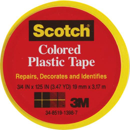 Scotch 3/4 In. Yellow Colored Plastic Tape