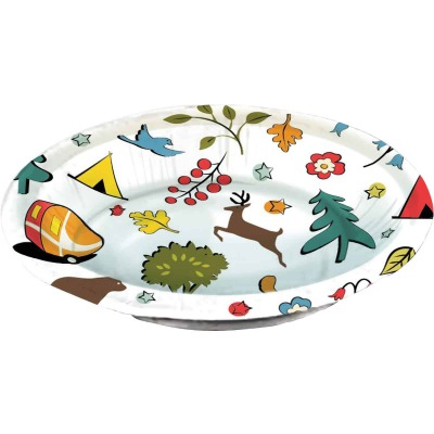 Camp Casual 20 Oz. Eco-Friendly Into the Woods Design Paper Bowls (24 Count)