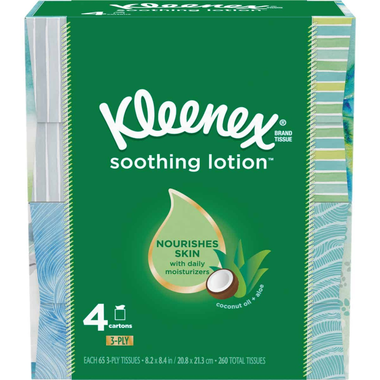 Kleenex Soothing Lotion Facial Tissues (4 Pack) Image 1
