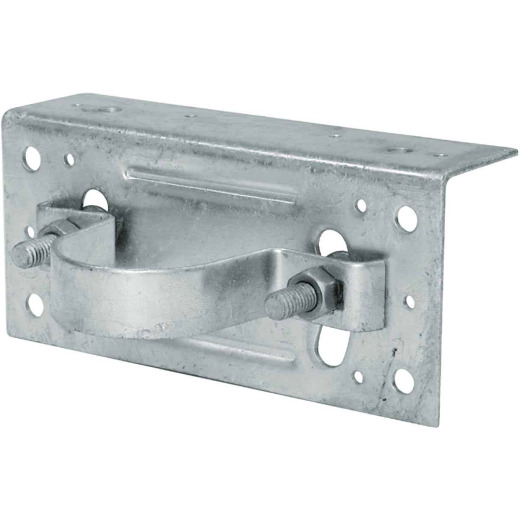 Midwest Air Tech Adjustable 2-3/8 in. Steel Fence Post Adapter Clamp
