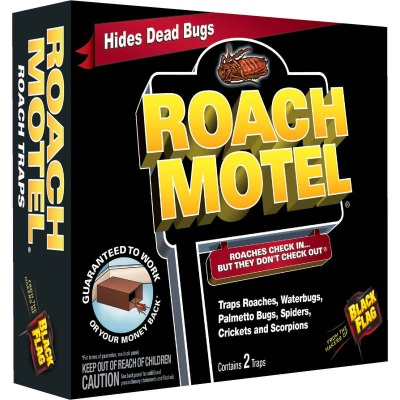 Black Flag Roach Motel Roach Bait & Glue Trap (2-Pack)