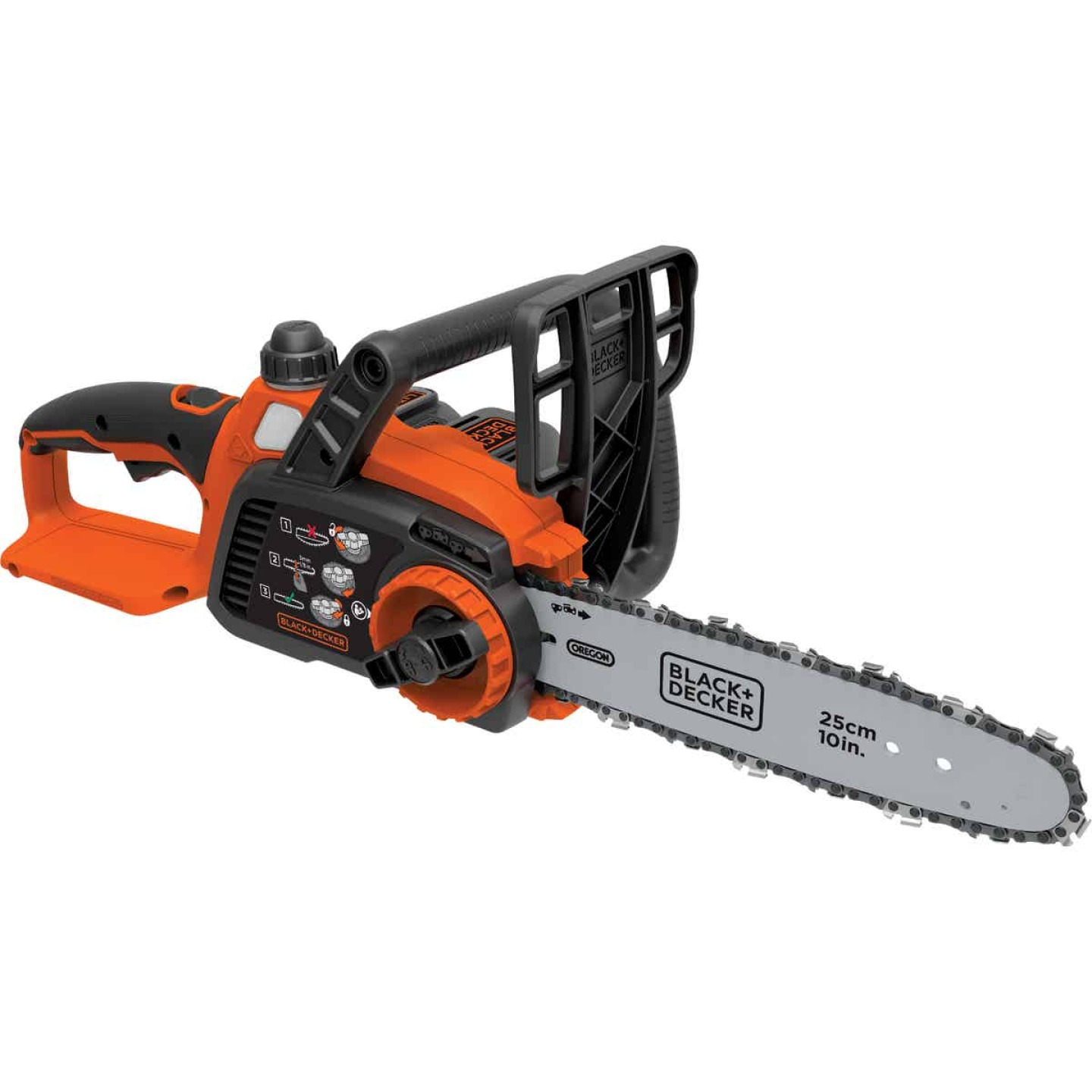 Black & Decker 10 In. 20V MAX Lithium Ion Cordless Chainsaw Image 1