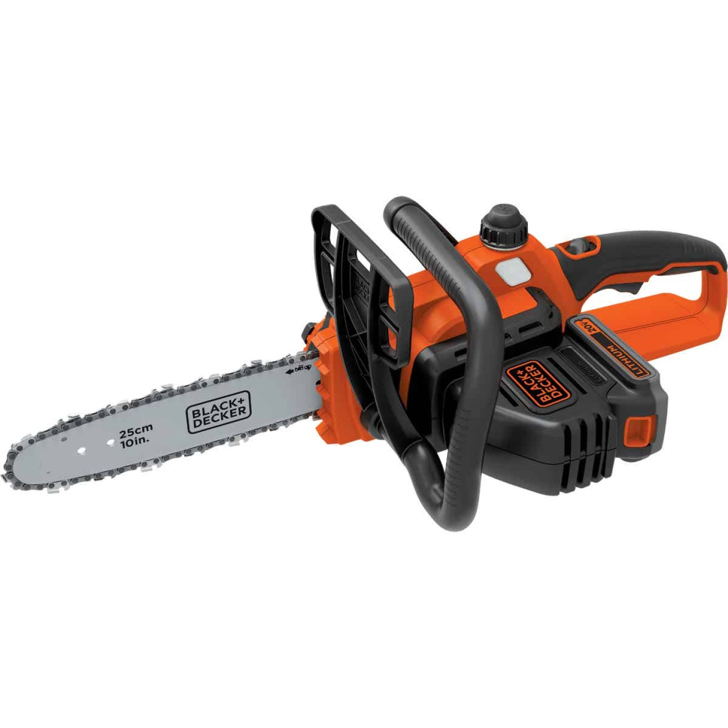 Black & Decker 10 In. 20V MAX Lithium Ion Cordless Chainsaw Image 7