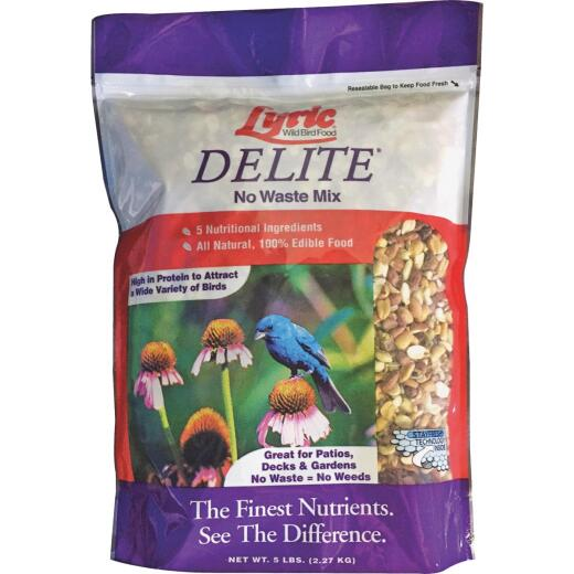 Lyric Delite 5 Lb. High Protein No Waste Mix Bird Food