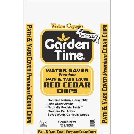 Garden Time 2 Cu. Ft. Small Red Cedar Decorative Bark Mulch Chips