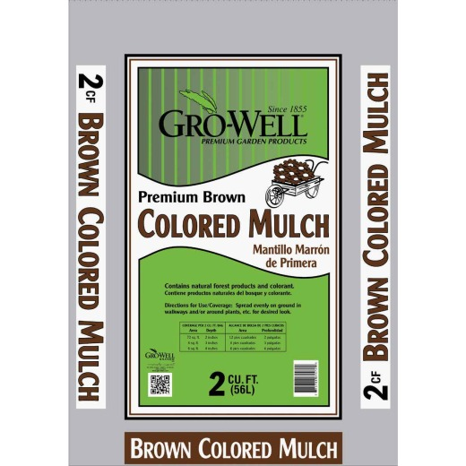 GRO-WELL 2 Cu. Ft. Brown Natural Forest Products Mulch