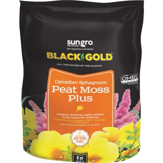Black Gold 3 Lb. 8 Qt. Sphagnum Peat Moss Plus
