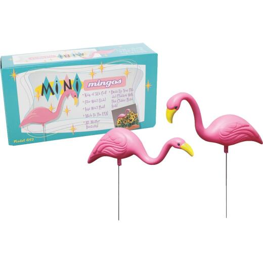 Bloem Pink Flamingo Mini Lawn Ornament (2-Pack)