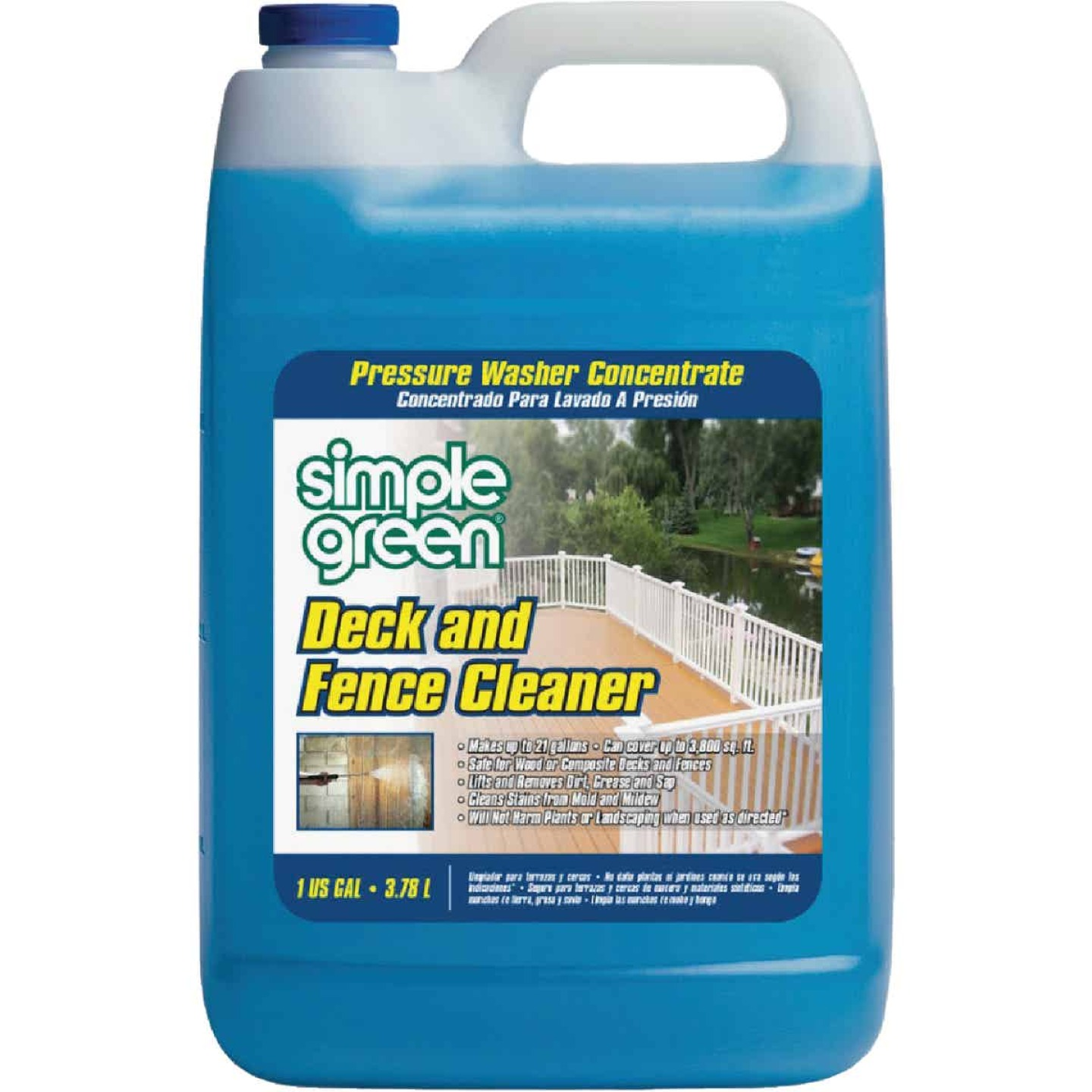 Simple Green 1 Gal. Deck & Fence Pressure Washer Concentrate Cleaner Image 1